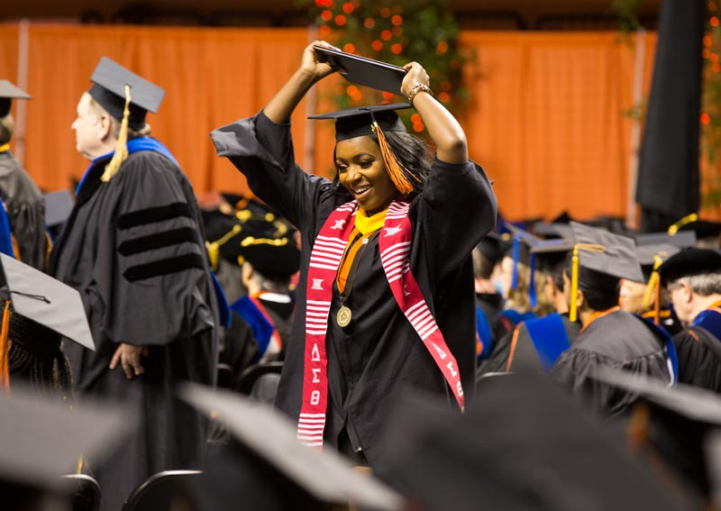 Student at OSU commencement