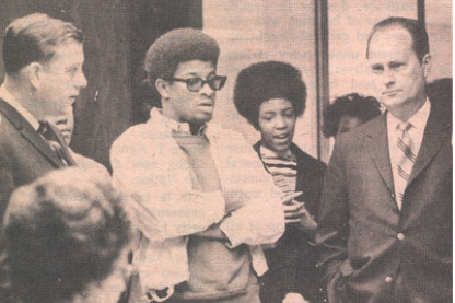 Afro-American Society member stage a walk out in the 1960s